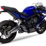 CBR650R Two Brothers Exhaust angle