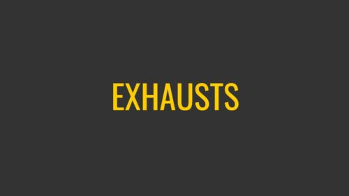 Exhaust systems and slip-on mufflers