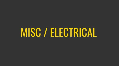 Misc / Electrical