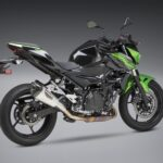 Kawasaki Ninja and Z400 Yoshimura Full titanium exhaust system angle