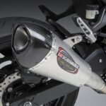 Kawasaki Ninja and Z400 Yoshimura Full titanium exhaust system close