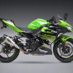 Kawasaki Ninja and Z400 Yoshimura Full titanium exhaust system side angle
