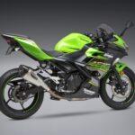 Kawasaki Ninja and Z400 Yoshimura Full titanium exhaust system side angle 2